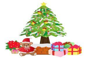 クリスマスプレゼント テディベア クマ イラスト 無料 商用フリー