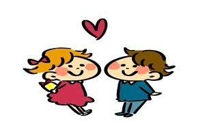 バレンタインデー カップル イラスト かわいい 手描き 無料 フリー