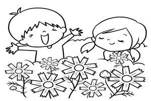 コスモス イラスト 塗り絵 白黒 線画 無料 フリー
