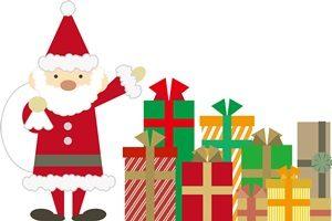クリスマスプレゼント サンタクロース イラスト かわいい 無料 商用フリー
