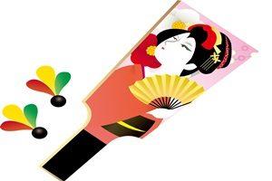 羽子板 イラスト 歌舞伎 江戸 無料 フリー