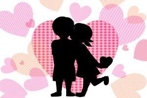 バレンタイン イラスト カップル シルエット 無料 フリー