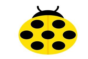 黄色いてんとう虫のイラスト