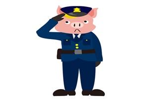 カッコいい豚のイラスト
