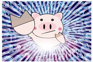 豚のイラスト背景