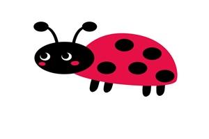 赤いてんとう虫のイラスト
