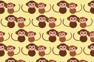 猿のパターンのイラスト