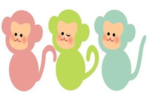 猿の無料イラスト