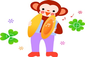 かっこいい猿のイラスト