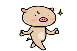 ダイエットに成功した豚のイラスト