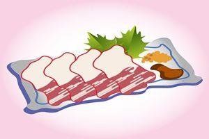 鯨 ベーコン イラスト 節分 食べ物 無料 商用フリー