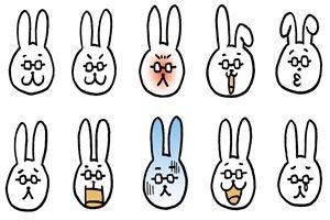 ウサギ先生 イラスト 無料 商用フリー