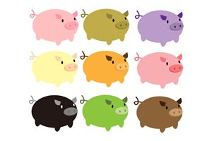 豚の無料イラスト素材