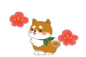 柴犬 豆柴 風呂敷 イラスト かわいい ゆるい 無料 商用フリー