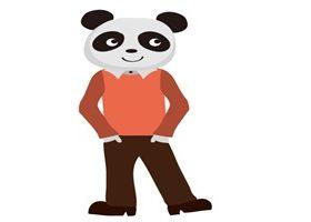 オシャレでかっこいいパンダのイラスト