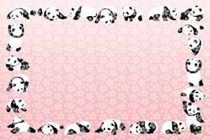 可愛いパンダのイラストフレーム