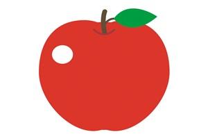 りんごの無料イラスト