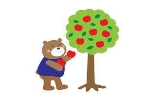 りんごの無料イラスト素材