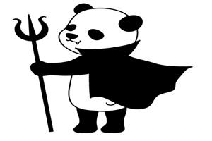 ハロウィンのかっこいいパンダのイラスト
