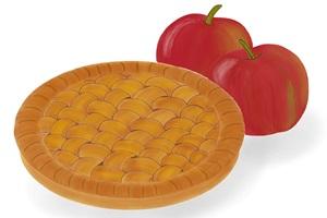 アップルパイとりんごのイラスト