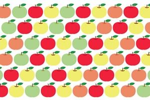 りんごのイラストパターン