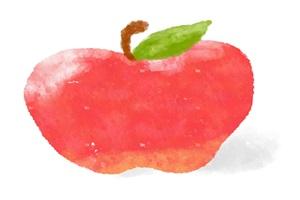 水彩画のりんごのイラスト