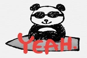 サングラスをしたかっこいいパンダのイラスト