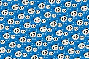 可愛いパンダのイラストパターン