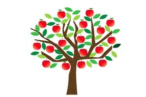 りんごの木のイラスト