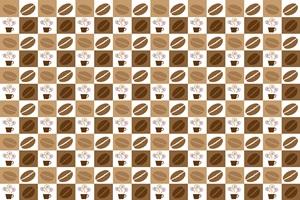 コーヒー豆のイラストパターン