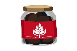 コーヒー豆の瓶のイラスト