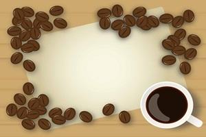 珈琲豆のイラストフレーム