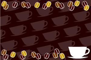 コーヒー豆の背景イラスト