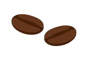 簡単なコーヒー豆のイラスト