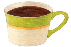 手書きのコーヒーカップのイラスト