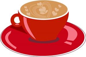 かわいいコーヒーカップのイラスト