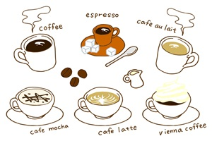 手書きのコーヒーのイラスト