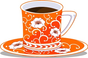 おしゃれなコーヒーのイラスト