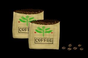 コーヒー豆の袋のイラスト