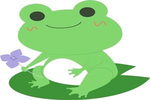 かわいいカエルのイラスト