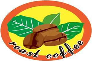 珈琲豆のロゴのイラスト