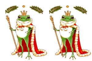 カエルの王様のカッコいいイラスト