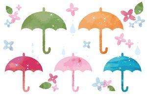 手描きの傘のイラスト