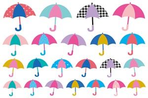 かわいくてオシャレな傘のイラスト