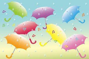 傘のイラスト背景
