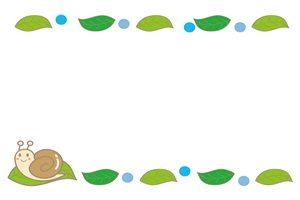 カタツムリのイラストフレーム