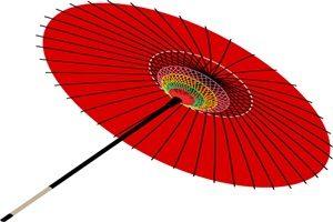 リアルな傘のイラスト