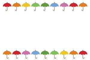 傘のイラストフレーム